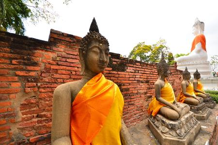 stone buddha: Old Stone Buddha Statues