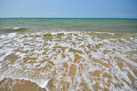 Wave Pattern on Summer Beach photo
