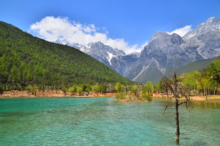The Valley of Blue Moon Lake at Alpine Mountain photo