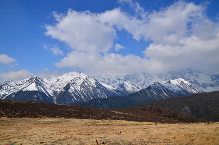 Snow Mountain Range Landscape photo