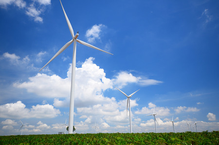 Wind Turbine Generator with Blue Sky photo