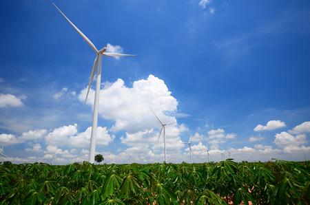 green meadows: Wind Turbine Generator in Green Meadows Stock Photo