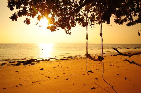 Beautiful Beach at Sunrise photo