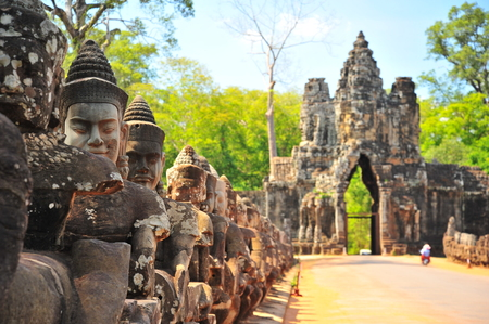 angkor thom: Gate of Angkor Thom Temple in Cambodia