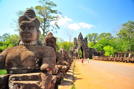 angkor thom: Gate of Angkor Thom Temple in Cambodia