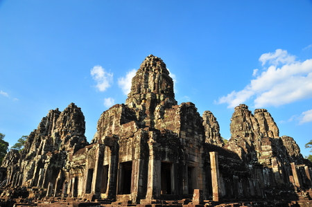 angkor thom: Bayon Temple of Angkor Thom Cambodia Stock Photo