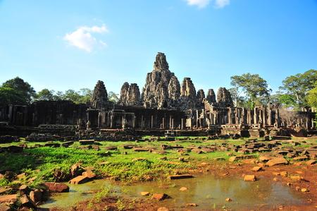 thom: Bayon Temple of Angkor Thom Cambodia Stock Photo