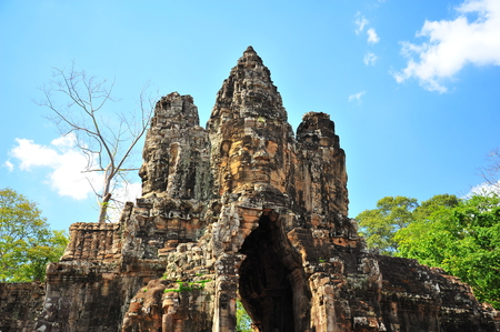 angkor thom: Stone Gate of Angkor Thom in Cambodia