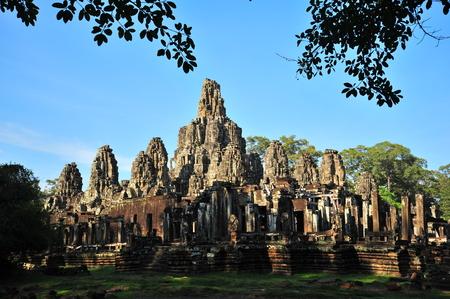 angkor thom: Bayon Temple of Angkor Thom in Cambodia