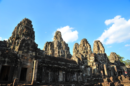 thom: Bayon Temple of Angkor Thom in Cambodia