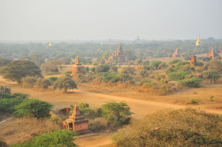 View Point of Old Pagodas in Bagan, Myanmar