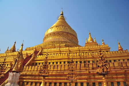 Shwezigon Pagoda in Bagan, Myanmar