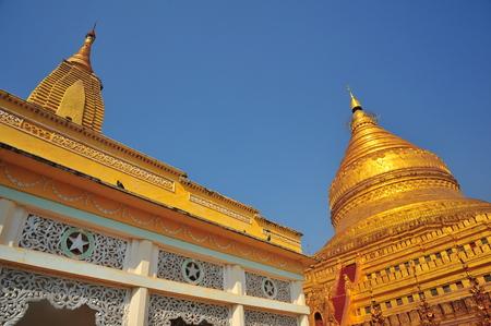 bagan: Shwezigon Pagoda in Bagan, Myanmar