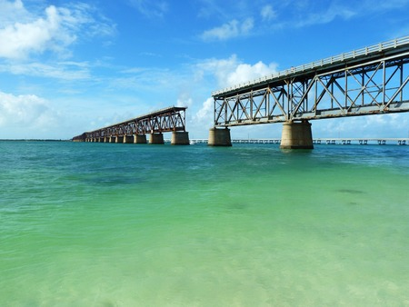 an unrivaled view of the bridge that connects the Florida Keys Stock Photo