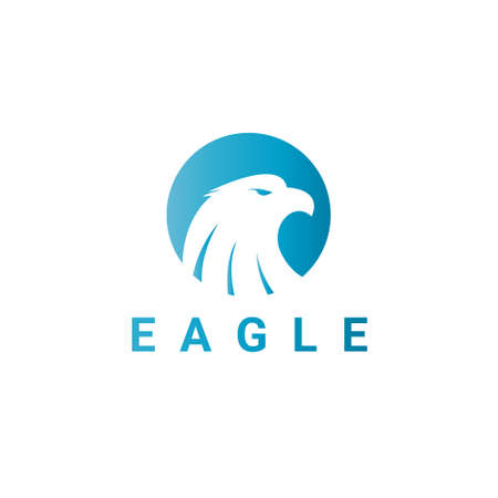 creative force: Eagle icon. Eagle head. icon template suitable for businesses and product names. Easy to edit, change size, color and text.
