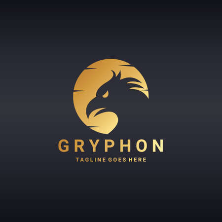 gryphon: Gryphon icon template. Illustration