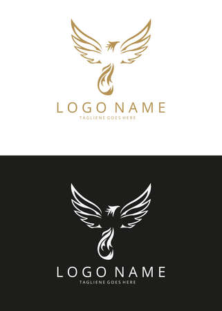 mythical phoenix bird: Phoenix Logo. two versions Illustration