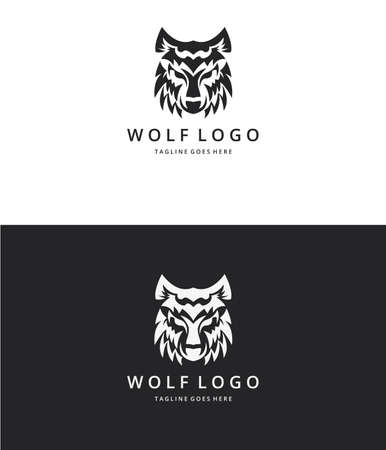 versions: Wolf logo. Two versions Illustration
