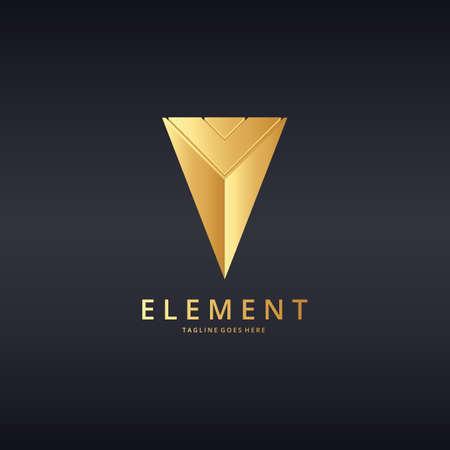 ent: Piramide logo. Ele, ent logotype