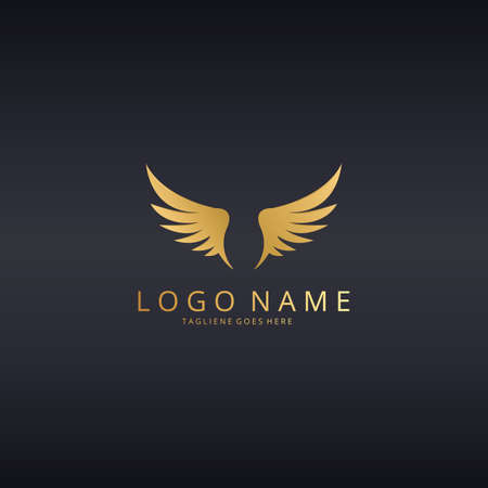 distinguished: wings logo