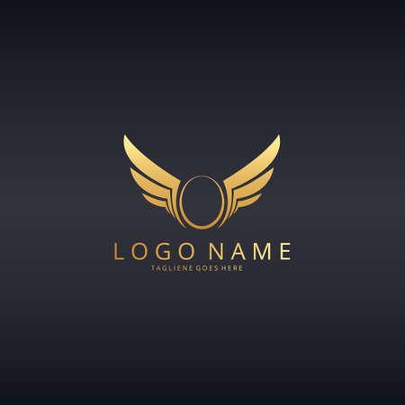 distinguished: Wings logo. O letter