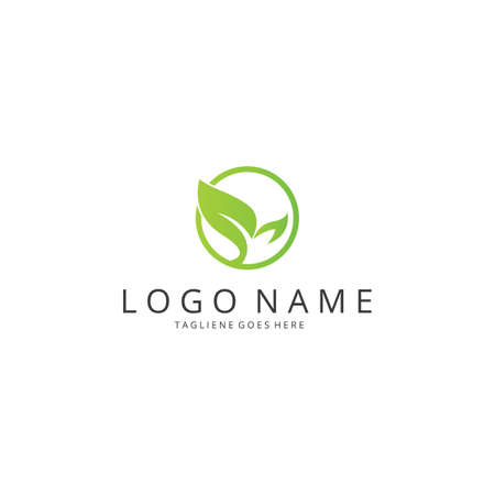 logo: Ecology logo. Healthy logo Illustration