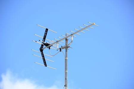 antenna: UHF antenna Stock Photo