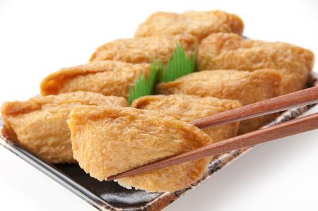 Sushi in fried tofu