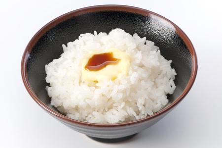 Butter soy sauce rice Banco de Imagens