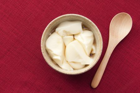 leche de soya: Pudín de leche de soja y leche