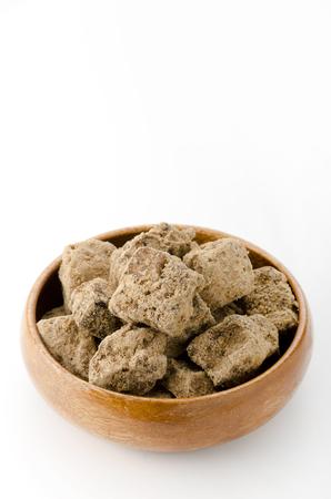 black, sugar, raw sugar, muscovado, muscovado brown sugar Stock Photo