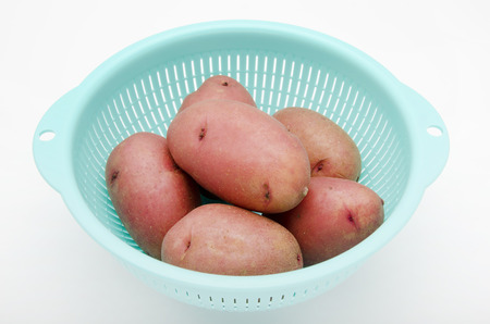 potatoes, pink potatoes, Stock Photo