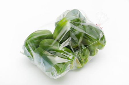bagged: bagged, Bell Peppers, bell pepper Stock Photo