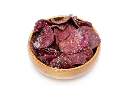teacake: purple yam chips