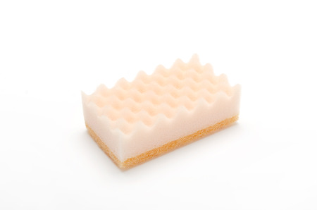 small articles: sponge on a white background