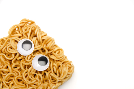 eyeball, look around restlessly, eyes, instant noodles