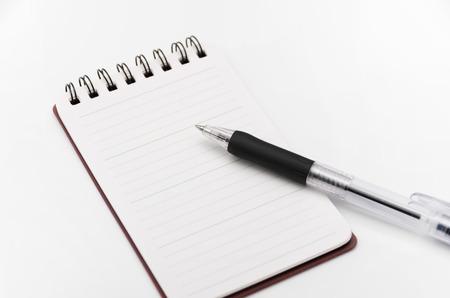 ballpoint pen: Notepad and ballpoint pen Stock Photo