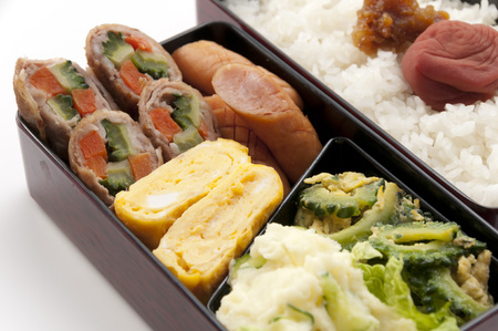 boned: goya chanpuru bento