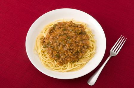 meat sauce: spaghetti