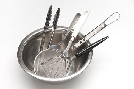 utensilios de cocina: artículos para cocinar  Foto de archivo