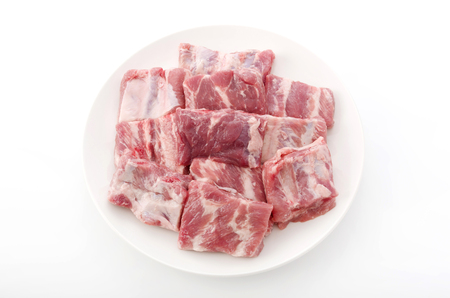 pork ribs: Raw Pork Ribs Isolated On White Background