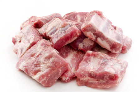 Raw Pork Ribs Isolated On White Background