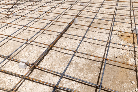 housing lot: Wire mesh Stock Photo