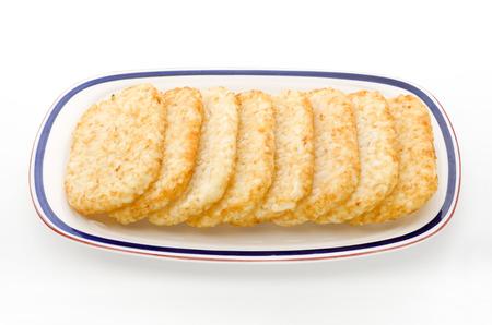papas doradas: hash browns (congelado) Foto de archivo