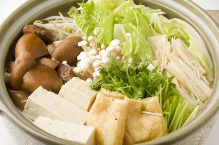 日本の野菜鍋鍋 写真素材