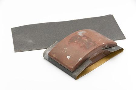 sanding block: Old Sandpaper holder