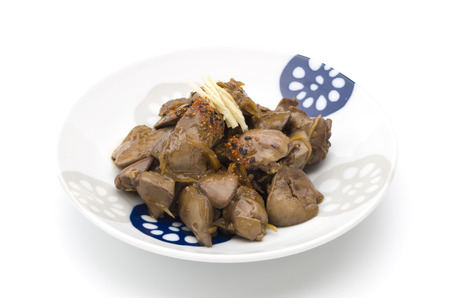boiled chicken liver