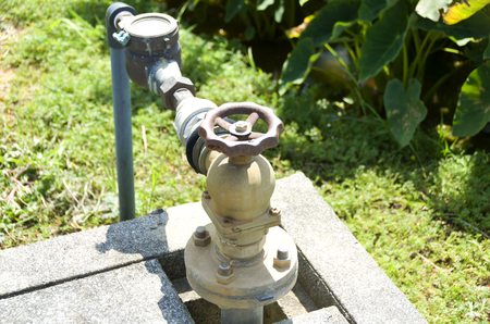 Water Control valve at paddy field
