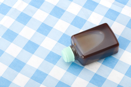 Small plastic bottle Sauce