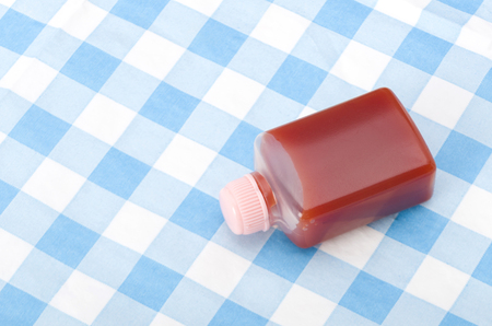 Small plastic bottle Ketchup